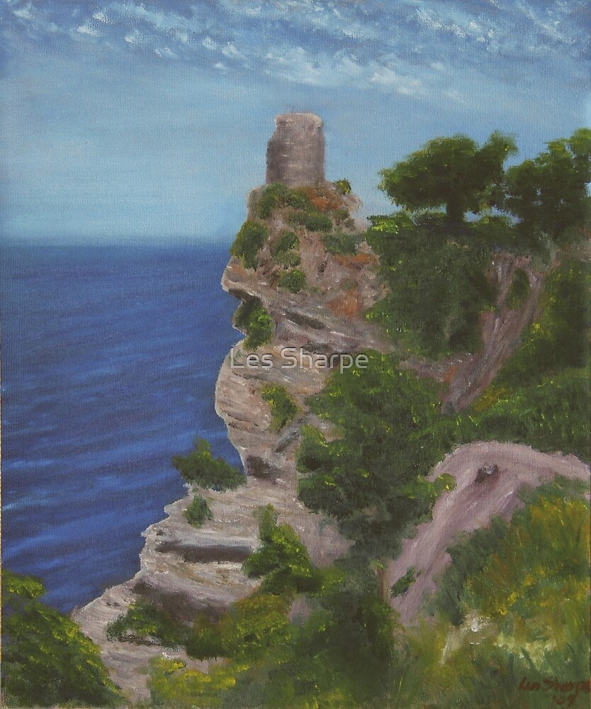 Watch Tower, Mallorca by Les Sharpe