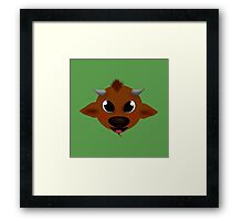 Happy Little Minotaur! Framed Print