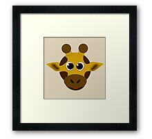 Happy Little Giraffe! Framed Print
