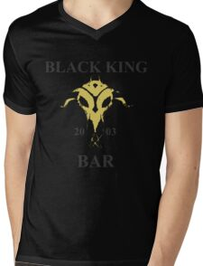 Black King Bar Mens V-Neck T-Shirt
