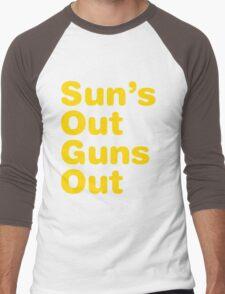 Sun's Out Guns Out Men's Baseball ¾ T-Shirt