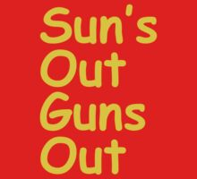 Sun's Out Guns Out One Piece - Short Sleeve