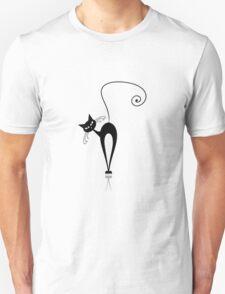 Slim black cat Unisex T-Shirt