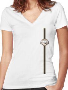 LetsGoClimbing.....Retro Women's Fitted V-Neck T-Shirt
