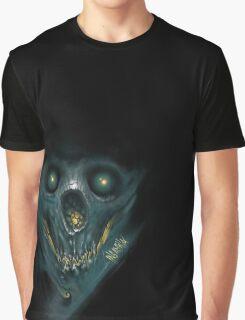 """INSAMNIA's """"blue skull"""" Graphic T-Shirt"""
