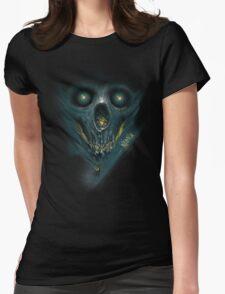 "INSAMNIA's ""blue skull"" Womens Fitted T-Shirt"