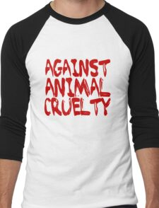 Against Animal Cruelty Men's Baseball ¾ T-Shirt