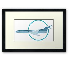 Flight in circle art Framed Print