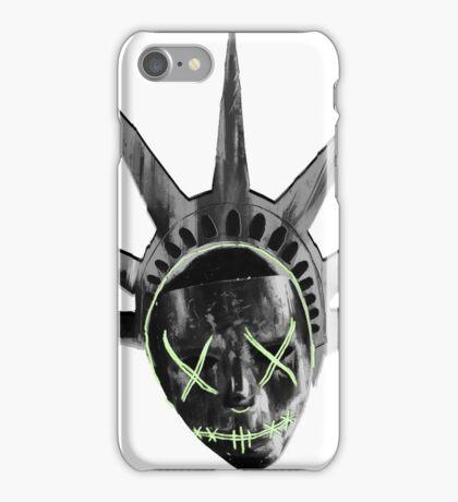 THE PURGE: liberty MASK BW iPhone Case/Skin