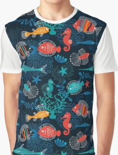 Tropical Fish Under the Sea Graphic T-Shirt