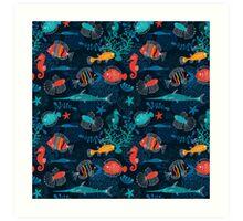 Tropical Fish Under the Sea Art Print