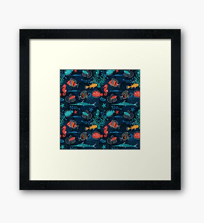 Tropical Fish Under the Sea Framed Print