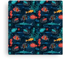 Tropical Fish Under the Sea Canvas Print