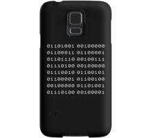 Binary... i can't read it! Samsung Galaxy Case/Skin