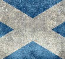 National flag of Scotland - Vintage version Sticker