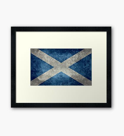 National flag of Scotland - Vintage version Framed Print
