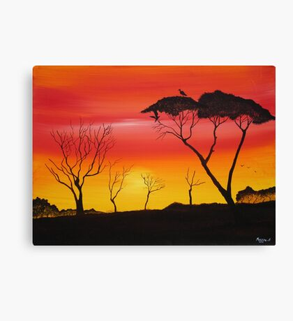 Series of Sunsets Canvas Print