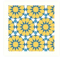 Circular geometric print Art Print