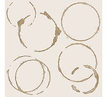 Coffee Stains Photographic Print