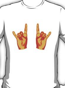 2 Cool Metal Hand Finger T-Shirt