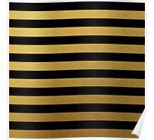 Black Gold Bold Stripes Poster