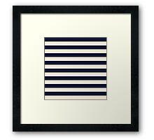 Navy Ivory Bold Stripes Framed Print