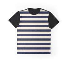 Navy Ivory Bold Stripes Graphic T-Shirt