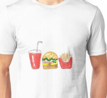 Watercolor fast food Unisex T-Shirt