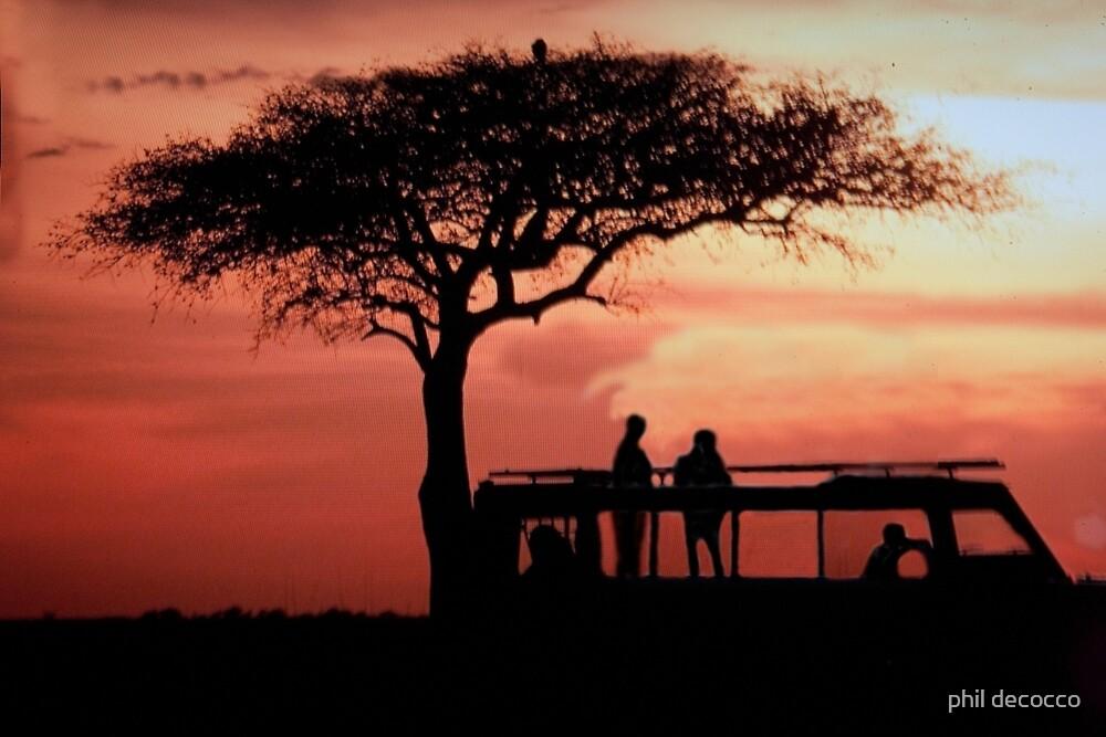 Tanzanian Sunset Safari by phil decocco