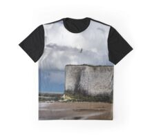 Seagulls over the white cliffs of Thanet Graphic T-Shirt