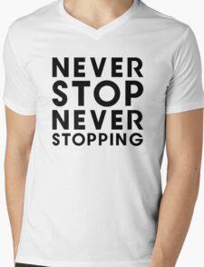 Popstar - Never Stop Never Stopping Type Tee Mens V-Neck T-Shirt