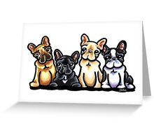 Fantastic Four Frenchies Greeting Card
