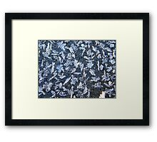 Ice Formations Framed Print