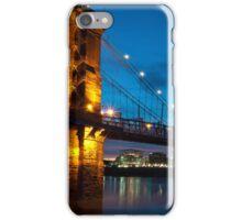 John A. Roebling Suspension Bridge at Dusk iPhone Case/Skin