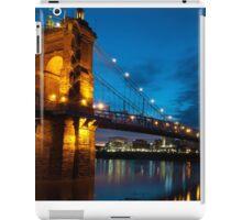 John A. Roebling Suspension Bridge at Dusk iPad Case/Skin
