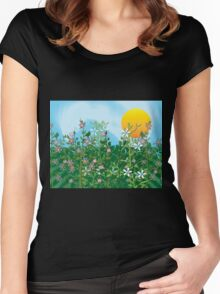 A Perfect Day - Flower Garden in the Sun Women's Fitted Scoop T-Shirt