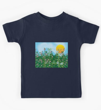 A Perfect Day - Flower Garden in the Sun Kids Tee