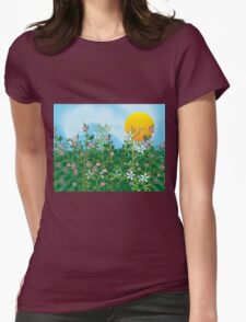 A Perfect Day - Flower Garden in the Sun Womens Fitted T-Shirt