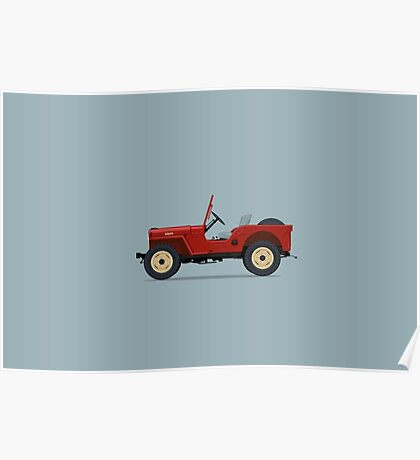 Jeep Willys CJ2A Poster