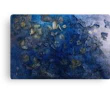 Blossoms in the wind  (dark blue) Canvas Print