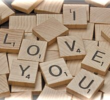 I Love You Tiles by GalleryThree