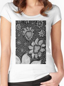 Flower Wall Women's Fitted Scoop T-Shirt