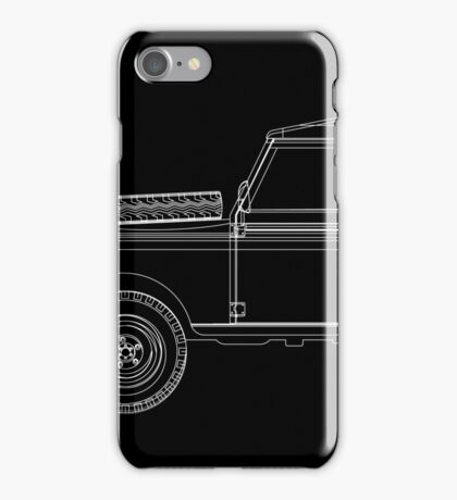 Land Rover Series III Outline iPhone Case/Skin
