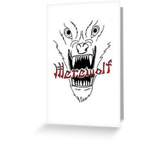 Face of the Werewolf Greeting Card