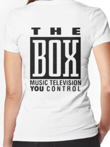 The Box Music Television You Control Women's Fitted V-Neck T-Shirt