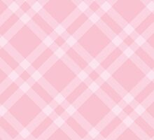 Checkered Gingham Pattern (Squared Pattern) - Pink by sitnica