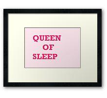 Queen of sleep Framed Print