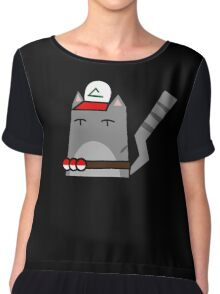 Ash (pokemon) Cat Chiffon Top
