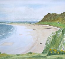 Rhossili Bay by John Rees by HurstPainters
