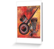 Music Instrument Greeting Card